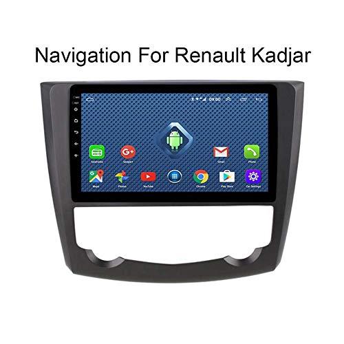 HARBERIDE Android 8.1 System 9 Zoll Touch Bildschirm Autoradio GPS für Renault Kadjar 2016-2019,mit Navigation Radio Stereo DVD WiFi Bluetooth USB Lenkradsteuerung,4g+WiFi:2+32g