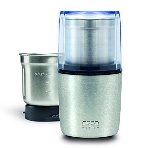 CASO Coffee & Kitchen Flavour - Elektrische Kaffeemühle und Multi-Zerkleinerer (200Watt) mit extra Edelstahlbehälter für Pesto, Nüsse, Gewürze, Kräuter, Getreide u.v.m.
