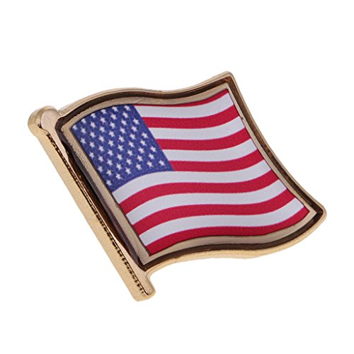 Gazechimp Tragbar Anstecknadel Flagge Pin, Fahne Nationalflagge Flaggenpin, Badge Button Flaggen Clip Anstecknadel - USA