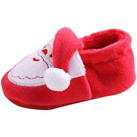 Kingko® Pattini del bambino appena nato Babbo Natale delicatamente solo del ragazzo della neonata pattini (Babbo Neve Natale)