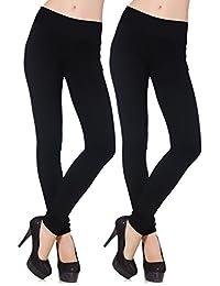 2 pack Leggings Térmico para Mujer, Leggings Negros