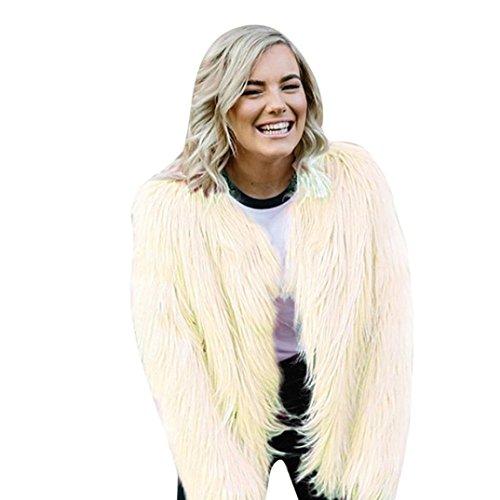 KaloryWee Abrigo Chaqueta de Invierno de Mujer de Piel Sintética Cálida Parka - Abrigo para Mujer