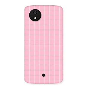 Neo World Premium Pink Check Back Case Cover for Micromax Canvas A1