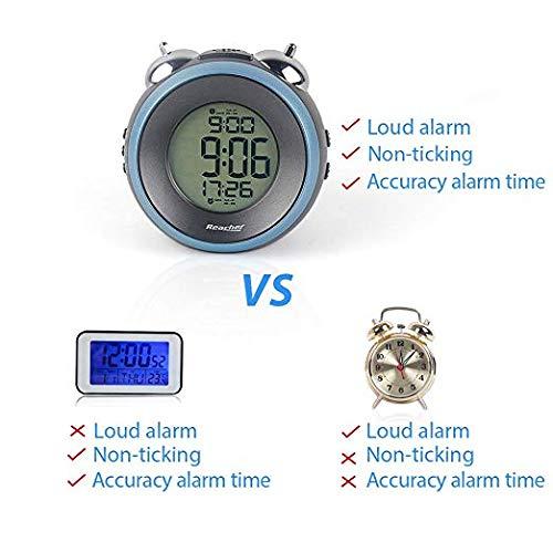 YHYGOO Einfache Stereo-Led-Alarmuhr Mute mit Luminous Electronic Clock Doppel-Glock-Alarmtuhr