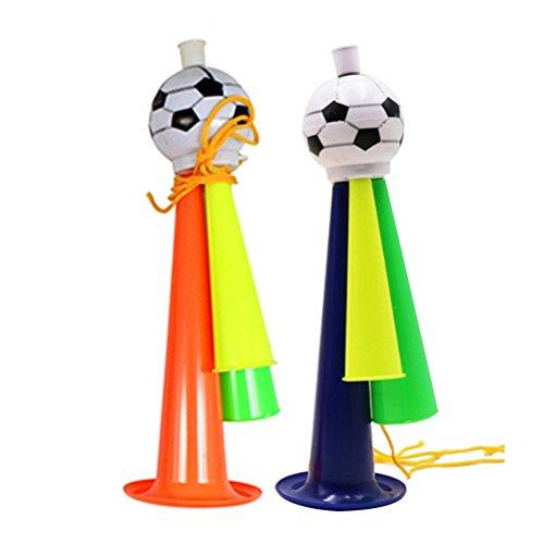 STOBOK 5 Stücke Fußballspiel Lautsprecher Fußball Fans Trompete Spiel Party Konzert Horn Kunststoff Ornamente Größe L (Zufällige Farbe)