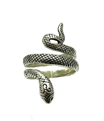 Bague en argent massif 925 Serpent R001325