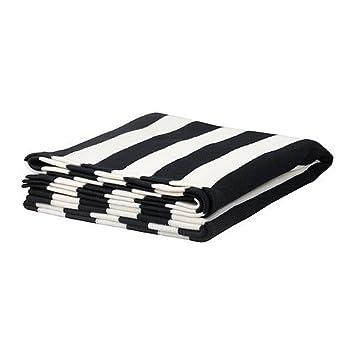 Ikea Plaid Eivor 125 x 170 cm schwarz/weiß Tagesdecke: Amazon.de ...