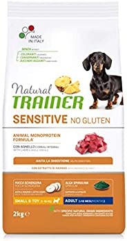 Natural Trainer Sensitive No Gluten - Cibo per Cani Small&Toy Adult con Agnello e Cereali Integrali