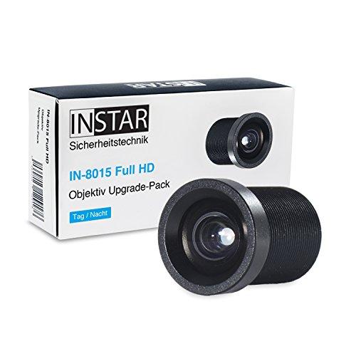2,8mm Super-Weitwinkelobjektiv für INSTAR IN-8015 Full HD / IP Kamera / Überwachungskamera / Objektiv / Zubehör / größerer Blickwinkel / Weitwinkel / S-mount / M12xP0.5
