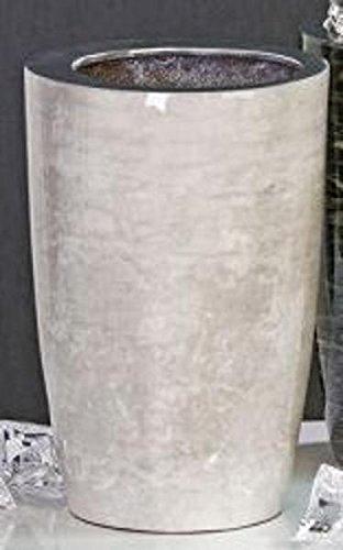 Design-Vase/Sektkühler Silent aus Aluminium · weiß in Marmor-Optik Höhe 24 cm innen-Ø 12 cm außen-Ø 16 cm (Für Weißer Vasen Marmor)