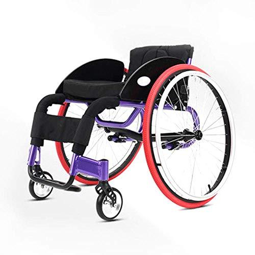 24in Bereich (lHishop Sport-Rollstuhl Transport-Fahren Medizinischer Rollstuhl-Rückenlehne 4 Positionen Justierbar Abnehmbares 24 Zoll-Hinterrad)