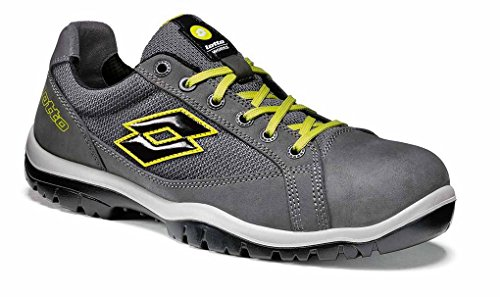 Lotto Works - SCARPA JUMP 500 S1P SRC GRIGIO SCURO/VERDE LIME