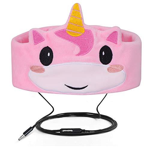 Verdrahtete Kinderkopfhörer Ultra dünne Lautsprecher-einfache justierbare weiche Vlies-Stirnband-Kopfhörer für Kinder Rosa