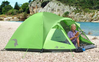 Mountain Guide Trekkingzelt MALO III 3 Personen, grün, 6000 mm Wassersäule, leichtes Alu Gestänge