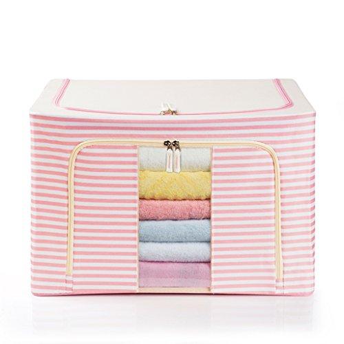DWW-Panier de rangement Vêtements de stockage boîte Oxford tissu grand stockage finition tissu finition sacs maison étanche à l'humidité stockage ( Couleur : Rose )