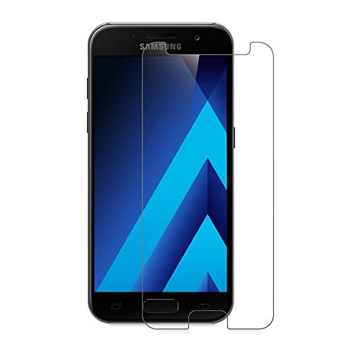 Preisvergleich Produktbild (2 Pack)Samsung Galaxy A5 (2017) Panzerglas - EUGO 9H Gehärtetem Glas Schutzfolie Displayschutzfolie Panzerglas für Samsung Galaxy A5 (2017)
