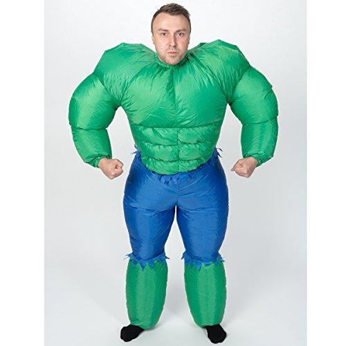 Decor Service Kostüm Hulk, aufblasbar, für Erwachsene, Polyester, Bunt 48 x 8 - Aufblasbare Hulk Kostüm