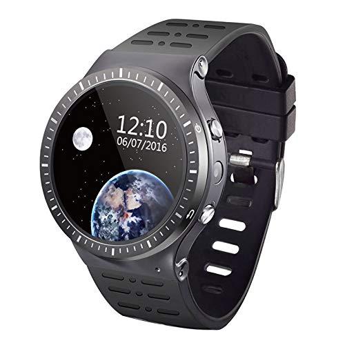 Wifi 5 Mp Gps (XUEQQ Sportuhr Smart Uhr Telefon Arc Touch Bildschirm 3gsim/WiFi Android 512mp + 8g APP GPS 5MP Foto Vier Kern bewerten Überwachung Sportuhr Bl Uetooth Uhr)