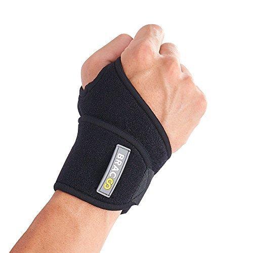 BRACOO Handgelenkbandage – Handgelenkstütze – Wrist Wraps für Kraft-Sport & Fitness | Handbandage bei Sehnenscheidenentzündung & Karpaltunnelsyndrom | Damen & Herren, passt links & rechts | schwarz