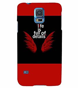 PrintVisa Quotes & Messages Angel 3D Hard Polycarbonate Designer Back Case Cover for Samsung Galaxy S5