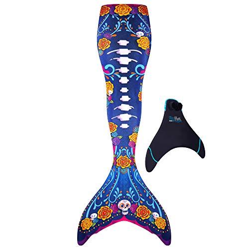 Fin Fun - Colas de sirena para nadar con monoaleta, tallas para niños y adultos -...