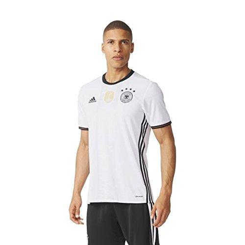 Adidas DFB H Jsy–Camiseta hombre, color blanco/negro, tamaño L