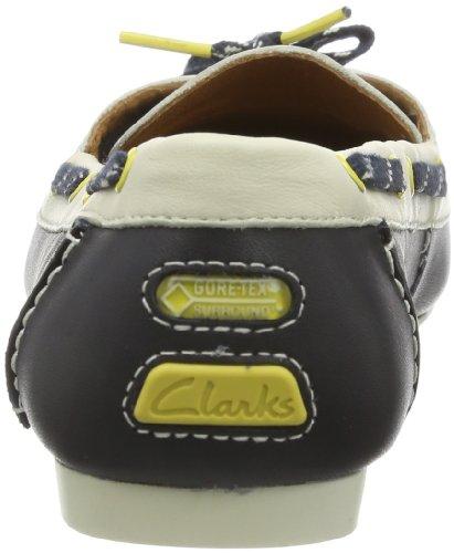 Clarks Goa Ocean GTX 203593594 Damen Schnürhalbschuhe Blau (Navy Combi)