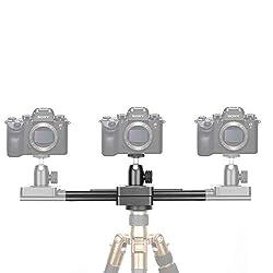 Neewer Tragbare Mini Kamera Video Gleitschiene, ausziehbar auf 15 Zoll 2 Wege Schieberegler für Dämpfungs Dolly Schienen für kleine Kameras Micro-SLR Kameras und Smartphones