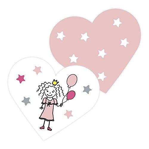 Frau WUNDERVoll® 100 KONFETTI Herzen Prinzessin/Tischkonfetti, Hochzeit Deko, Tischdekoration, Streudeko, Geburtstag, Shooting, Babyshower, Kindergeburtstag