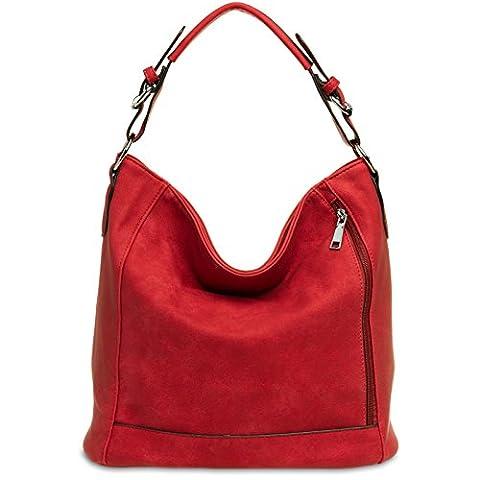 CASPAR TS917 Damentasche / Handtasche / Shopper / Schultertasche / Messenger Bag / Hobo Bag,