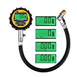 Lumiereholic Digital Tyre Pressure Gauge for Car Truck Motorcycle Bicycle with Hose