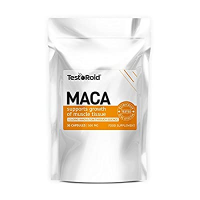 Testoroid Peruvian Maca Natural Testosterone Booster Powerful Purest Quality Muscle Builder Increase Strength & Manlyhood British Supplements You Can Trust 1month Supply from TestoRoid