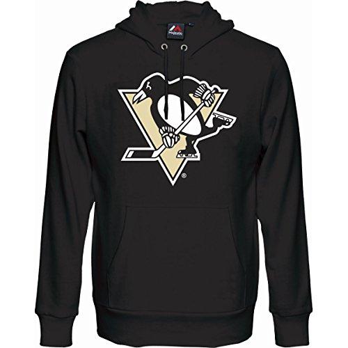 Majestic Fan Hoody - NHL Pittsburgh Penguins schwarz - M