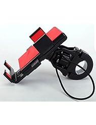 Montaje de bicicleta ajustable, Cheeroyal 360 ° Interruptor Bike Handlebar Soporte de montaje Motorbike Soporte de soporte Montaje trasero para iPhone para teléfono Samsung S4 S5 S6 S7 iPhone 5 6 6s 6 Plus (Rojo)