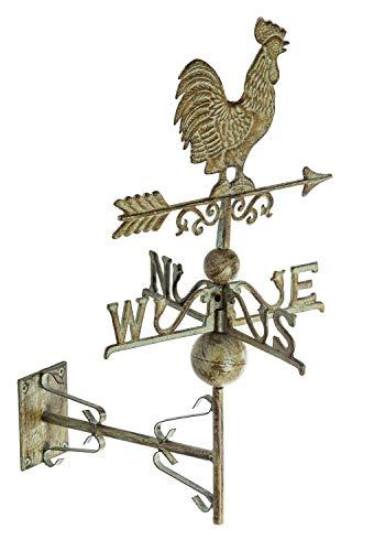 aubaho Nostalgie Wand Wetterhahn Hahn Garten Dekoration Windrad Eisen Wetterfahne Grün | Garten > Dekoration > Windräder | aubaho