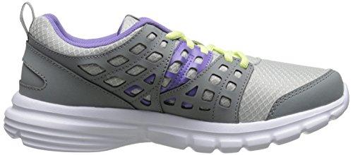 Reebok velocità di salita scarpa da corsa Steel/Flat Grey/Lush Orchid/Citrus Glow/White