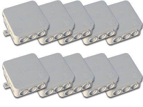 10 Stück Abzweigdose/ Verteilerdose Aufputz Feuchtraum IP 54 85mm x 85mm x 40mm