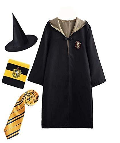 Disfraz de Harry Potter para niño Adulto Unisex Capa Disfraz Cosplay Conjunto Traje Varita mágica Corbata Bufanda Gafas Gafas Marco Sombrero Camisa de roca Carnaval Disfraz Carnaval Halloween 105-526
