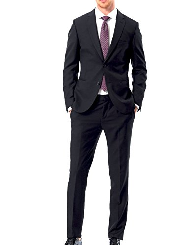 Keskin Collection Anzug Schwarz, verfügbare größen 44-60 und 90-114 und 25-27 + Gratis Hemd für Kurze Zeit Schwarz