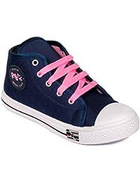 Asian shoes RASER-61 Blue pink Canvas Women Shoes