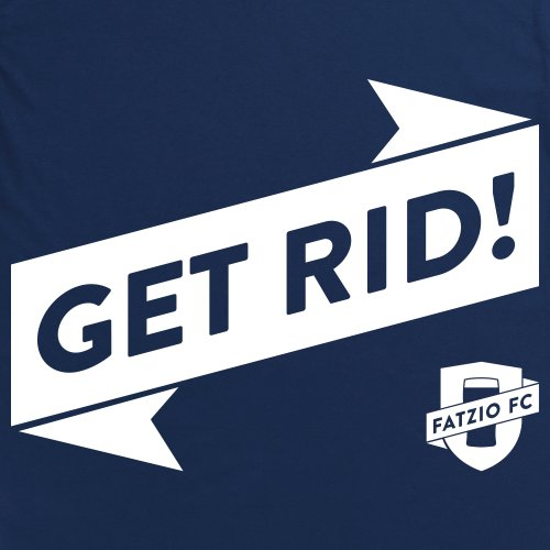 Fatzio FC Get Rid! T-Shirt, Herren Dunkelblau