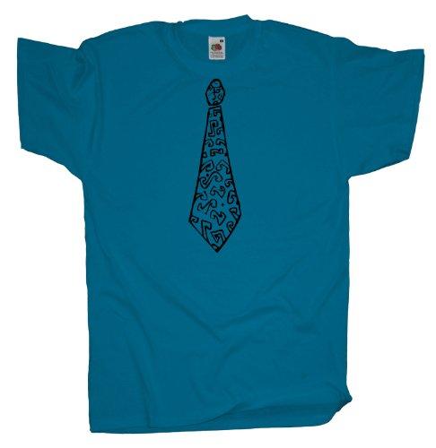 Ma2ca - Faschings Schlips - T-Shirt Azure