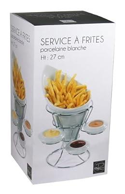 Reception 2630817 Service à Frites Porcelaine Blanc 18 cm