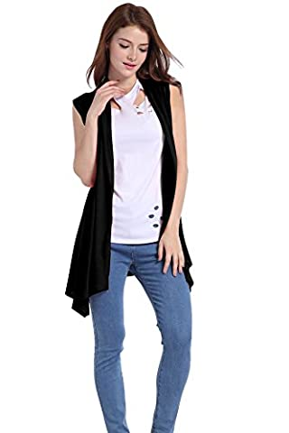 ICOCOPRO Women's Summer Short Sleeve Lightweight Cardigan Vest Cover Tunic