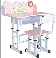 TruGood Girl's Study Table & Chair Set (Pink)