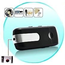 Electro-Weideworld - Pendrive usb con Cámara Espía Mini U8 720*480 oculta disco USB cámara espía Video Recorder support Micro SD Card y Detección de Movimiento