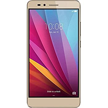 Honor 5X Smartphone, 5.5 Pollici, WiFi 802.11 b/g/n, Bluetooth 4.1, 1.5 GHz Octa-Core, Qualcomm, 2 GB RAM, 16 GB Memoria Interna, Fotocamera da 13 MP/5 MP, LTE, Android 5.1, Oro