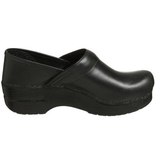 Dansko Professional Leder Pantoletten Schuhe Black Cabrio Leather