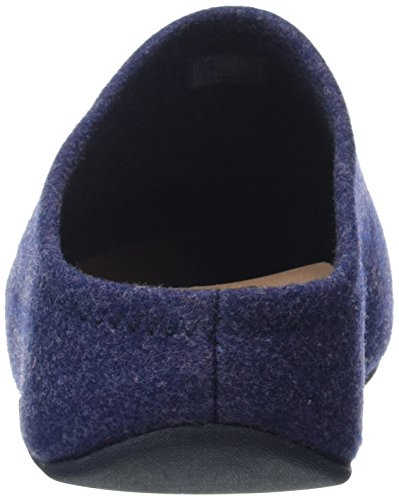 Fitflop Shuv Felt, Sabots Femme Bleu - Blue (Supernavy)