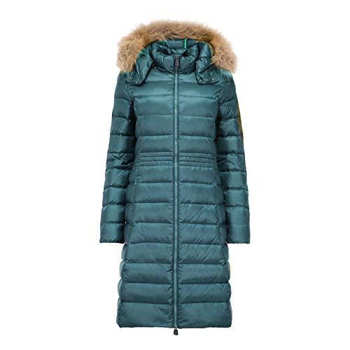JOTT Dahlia Manteau d'hiver en Fourrure synthétique pour Femme Bleu Turquoise - Bleu - XL